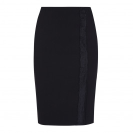 LUISA VIOLA PENCIL SKIRT WITH LACE TRIM - Plus Size Collection