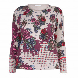 LUISA VIOLA FLORAL PRINT SWEATER - Plus Size Collection