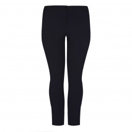 LUISA VIOLA FRONT FASTEN TROUSER BLACK - Plus Size Collection