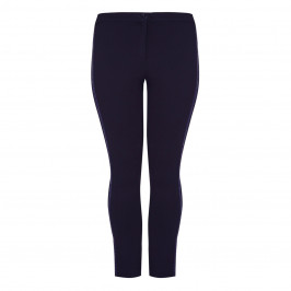 LUISA VIOLA PUNTO MILANO TROUSER WITH SEQUIN DETAIL NAVY - Plus Size Collection