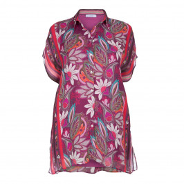 LUISA VIOLA OVERSIZED PRINT SHIRT - Plus Size Collection