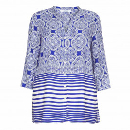 LUISA VIOLA FLUID PRINT SHIRT - Plus Size Collection