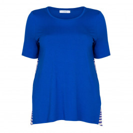 LUISA VIOLA CHINA BLUE JERSEY TOP WITH PRINT BACK PANEL - Plus Size Collection