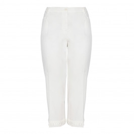 LUISA VIOLA CROPPED TASSEL TROUSERS - Plus Size Collection