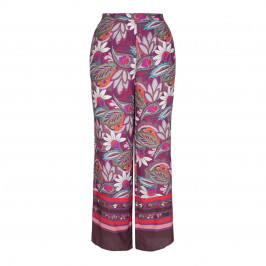 LUISA VIOLA WIDE LEG PRINTED TROUSERS - Plus Size Collection