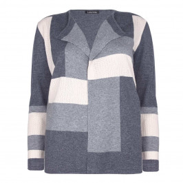 LUISA VIOLA COLOURBLOCK CARDIGAN WITH ECLECTIC TEXTURES - Plus Size Collection