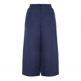 LUISA VIOLA NAVY LINEN CULOTTE - Plus Size Collection