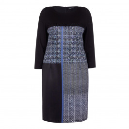 LUISA VIOLA fitted block print DRESS - Plus Size Collection