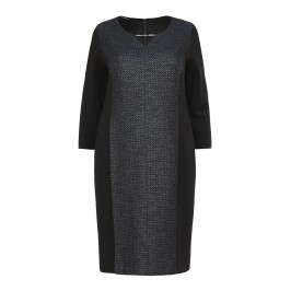 LUISA VIOLA textured metallic panelled DRESS - Plus Size Collection