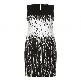 LUISA VIOLA jacquard monochrome DRESS - Plus Size Collection