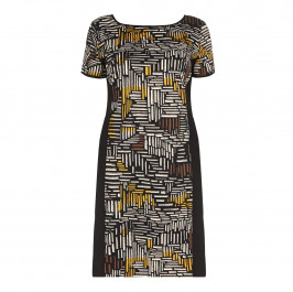 LUISA VIOLA abstract print DRESS - Plus Size Collection