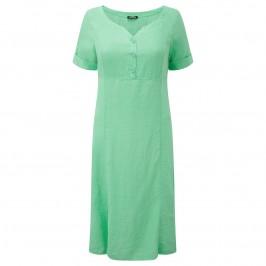 LUISA VIOLA apple green linen DRESS - Plus Size Collection