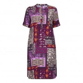 Luisa Viola print crepe DRESS - Plus Size Collection