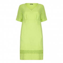 LUISA VIOLA lime green linen DRESS - Plus Size Collection