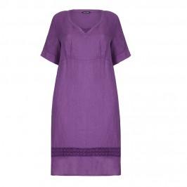 LUISA VIOLA plum linen DRESS - Plus Size Collection