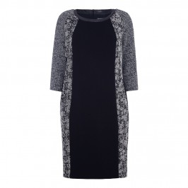 LUISA VIOLA MONOCHROME CONTRAST PANEL DRESS - Plus Size Collection