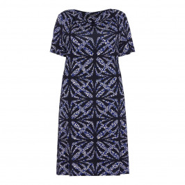 LUISA VIOLA tile print DRESS - Plus Size Collection