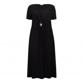 LUISA VIOLA JERSEY DRESS BLACK - Plus Size Collection