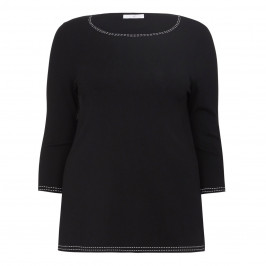 LUISA VIOLA KNITTED TUNIC BLACK - Plus Size Collection