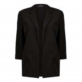 Luisa Viola black waffle JACKET - Plus Size Collection
