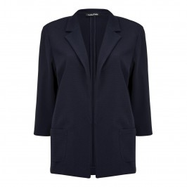Luisa Viola Navy waffle JACKET - Plus Size Collection