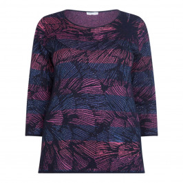 LUISA VIOLA LUREX INTARSIA SWEATER - Plus Size Collection