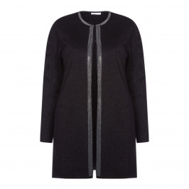 LUISA VIOLA BLACK KNITTED CARDIGAN  - Plus Size Collection