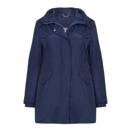LUISA VIOLA navy showerproof RAINCOAT - Plus Size Collection