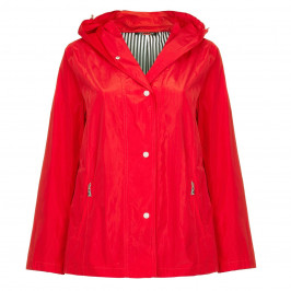 LUISA VIOLA red RAINCOAT with striped lining - Plus Size Collection