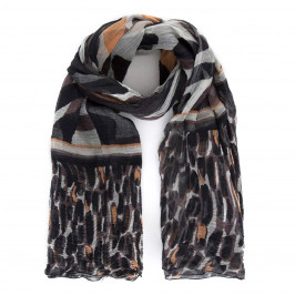 LUISA VIOLA ETHNIC PRINT SCARF - Plus Size Collection