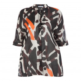 LUISA VIOLA ETHNIC PRINT VOILE SHIRT - Plus Size Collection