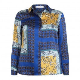 LUISA VIOLA SCARF PRINT SHIRT - Plus Size Collection