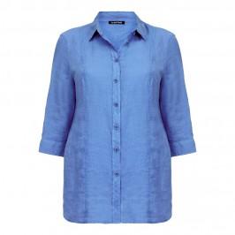 LUISA VIOLA blue linen SHIRT - Plus Size Collection