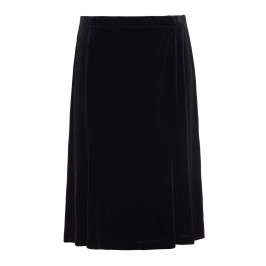 BEIGE LABEL BLACK FLARED CALF LENGTH SKIRT  - Plus Size Collection