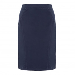 LUISA VIOLA DENIM STRETCH SKIRT - Plus Size Collection