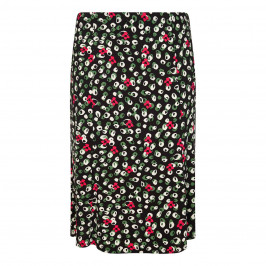 LUISA VIOLA STRETCH JERSEY PRINTED PULL ON SKIRT - Plus Size Collection