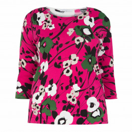 LUISA VIOLA PRINT SWEATER PINK - Plus Size Collection