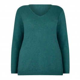 LUISA VIOLA V NecK FINE KNIT SWEATER - Plus Size Collection