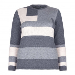 LUISA VIOLA COLOURBLOCK TEXTURED SWEATER - Plus Size Collection