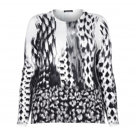 LUISA VIOLA MONOCHROME PRINT SWEATER - Plus Size Collection