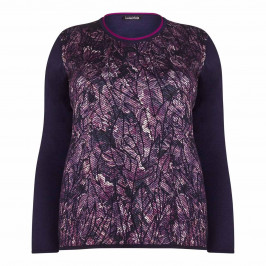 LUISA VIOLA navy textured front SWEATER - Plus Size Collection