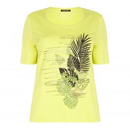 LUISA VIOLA embellished leaf print T SHIRT - Plus Size Collection