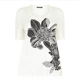 LUISA VIOLA embellished flower print  T-SHIRT - Plus Size Collection