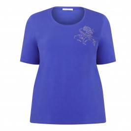 LUISA VIOLA EMBELLISHED T-SHIRT BLUETTE - Plus Size Collection