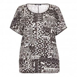 LUISA VIOLA Aztec print T-SHIRT - Plus Size Collection