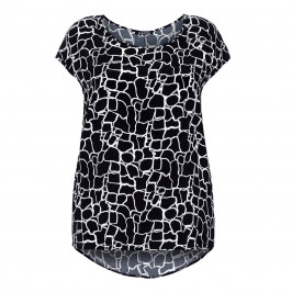 LUISA VIOLA monochrome cap sleeve TOP - Plus Size Collection