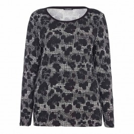 LUISA VIOLA abstract houndstooth TOP - Plus Size Collection