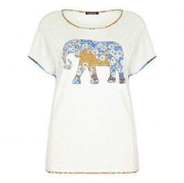 LUISA VIOLA embellished elephant TOP - Plus Size Collection