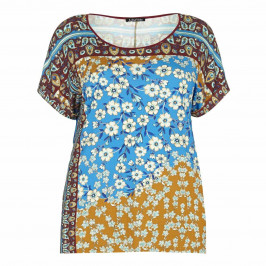 LUISA VIOLA indian floral print TOP - Plus Size Collection