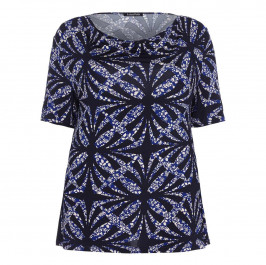 LUISA VIOLA tile print TOP - Plus Size Collection